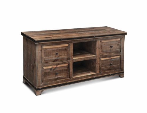 Rustic Vintage Wood TV Stand Entertainment Center Media Stand Console Furniture   eBay