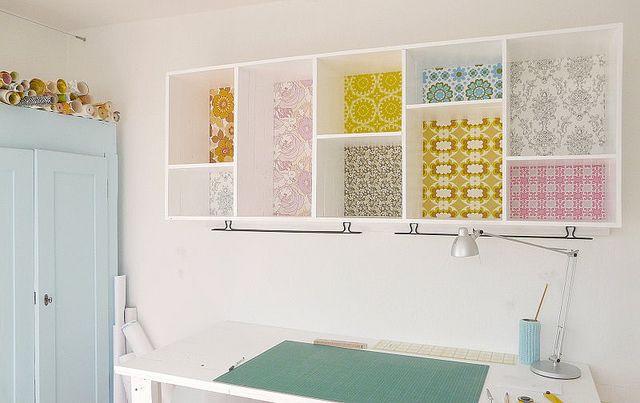 Background wallpaper shelves