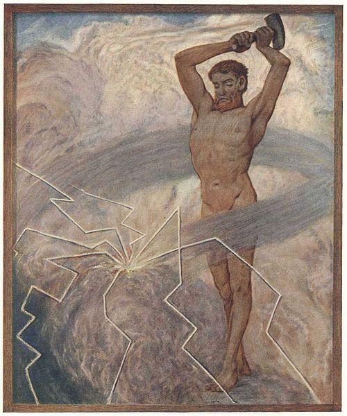 Juli by Hans Thoma (German; 1839-1924)