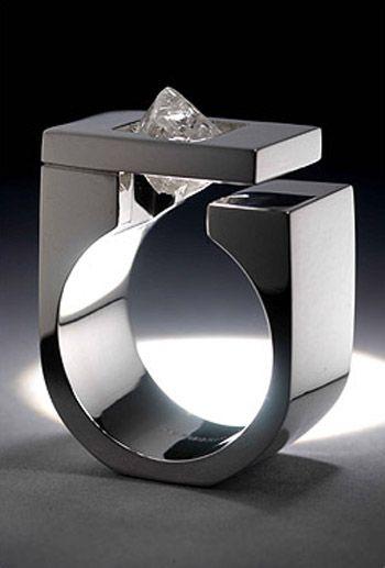 Tip of the Iceberg ring by Niki Kavakonis | Handmade Designer Jewelry