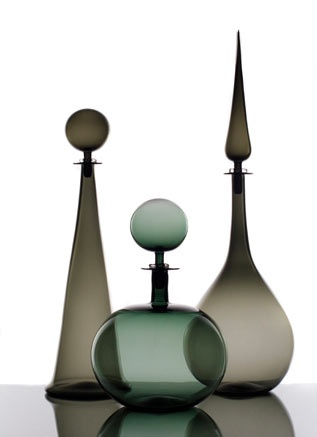 Joe Cariati Glass Collection, Glassblower in Los Angeles, Contemporary Decanters