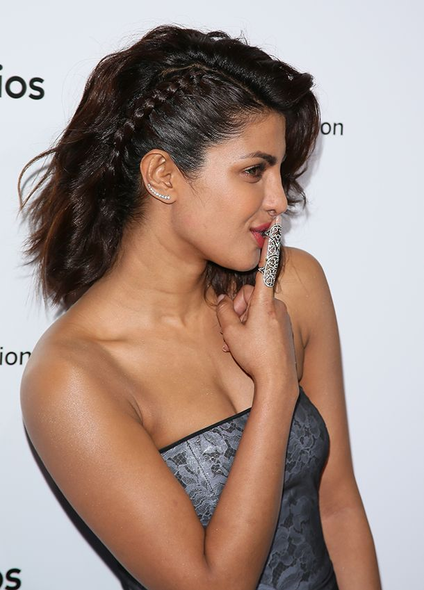 Want just a hint of a braid? Try this braided undercut from Priyanka Chopra, who paired her look with a touseled bob.  Read more: http://dailymakeover.com/spring-braids/#ixzz42P7dCF2m  25 Spring Braids to Try ASAP | Daily Makeover