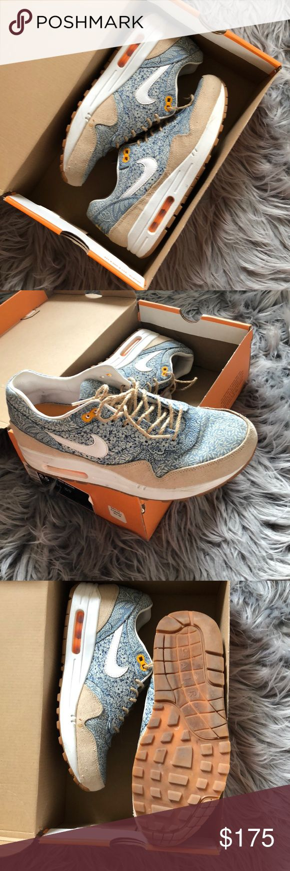 Nike Liberty Air Max 1 Super rare Nike liberty air max 1. Worn five times. Love them I just wear too much black. Nike Shoes Sneakers