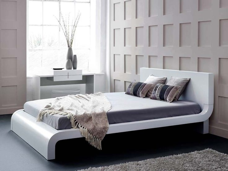 White gloss bed with sexy curves beds pinterest - White bedroom furniture pinterest ...