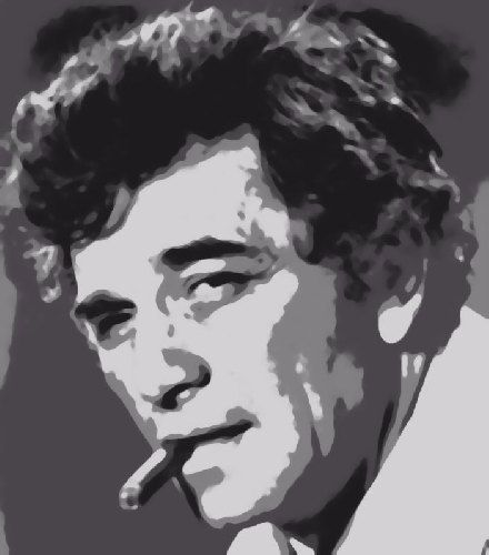 Stordimento Columbo / Peter Falk Pop Art pittura vernice di numero Kit