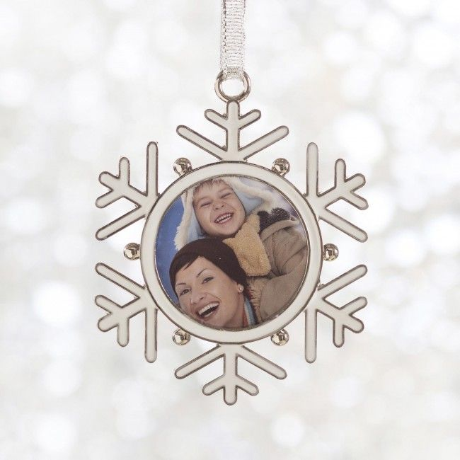 Put a picture of your favourite person in this Snowflake frame ornament.
