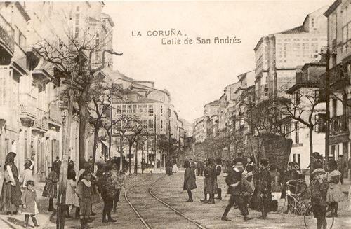 1900 - Calle de San Andres - A Coruña