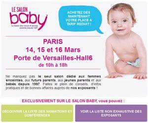 Le salon du bébé de Paris : entrée au tarif réduit de 6 euros (au lieu de 10,50) + cadeaux gratuits | Maxi Bons Plans