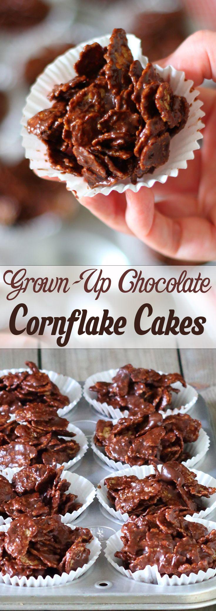 Grown-Up Chocolate Cornflake Cakes
