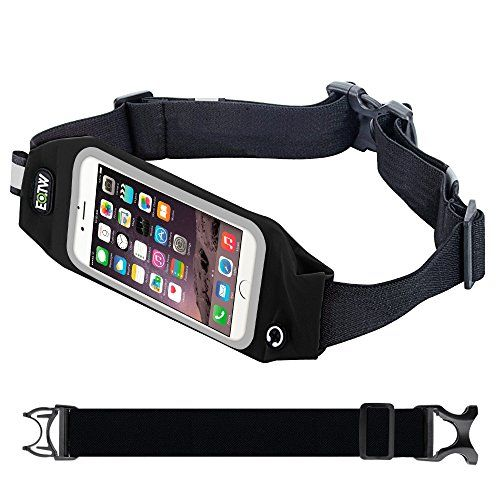 Running Belt Waist PackEOTW Outdoor Sweatproof Reflective Belt Waist Bag for iPhone 6S6 Plus Transparent Touch Screen Window Universal Sports Waist Belt with Additional Extender Black 55 INCH ** You can find more details by visiting the image link.