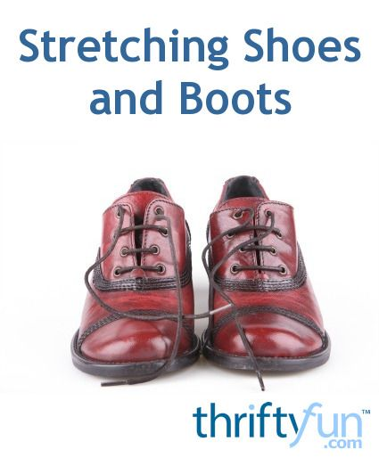 Sometimes to make footware more comfortable, you need to make them bigger. This guide is about stretching shoes and boots.