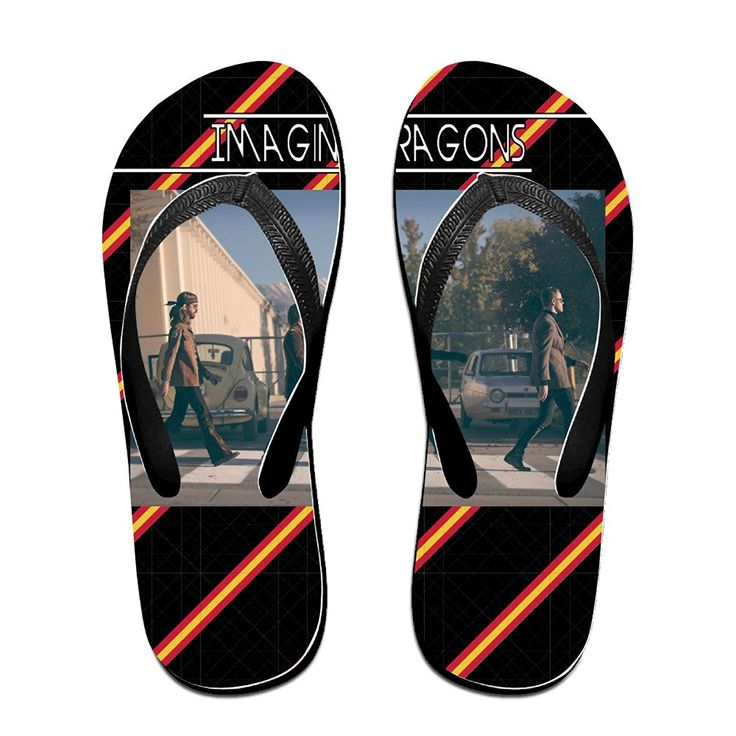 MEIDINGT Women's Or Men's Unisex Dragons Band Flip Flops * Learn more by visiting the image link. (This is an affiliate link and I receive a commission for the sales)