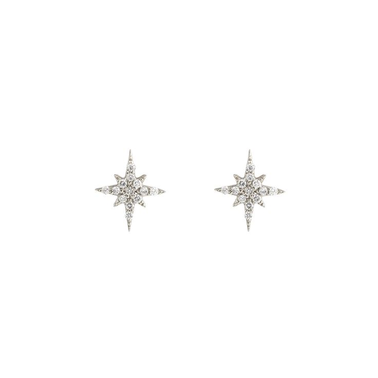 Stunning 14k gold starburst diamond cluster earrings featuring .08ctw white diamonds G SI1 quality with brilliant cut. They are shimmery and will make great day to night earrings. The star measures ab