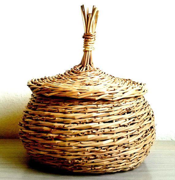 Storage Basket Hand Woven от TeneBasket на Etsy