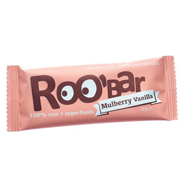 Baton raw bio cu dude si vanilie 30 g Roobar 100% raw si organic. Oricand simtiti nevoia de ceva dulce si hranitor, batoanele raw organice sunt alegerea perfecta. Roo'bar inseamna sanatos, raw si organic.