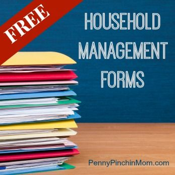 Who doesn't love FREE things? How about forms to help you run your home?  You can find cleaning checklists, budgets, shopping list, men plans and more -- all 100% free to use!!!