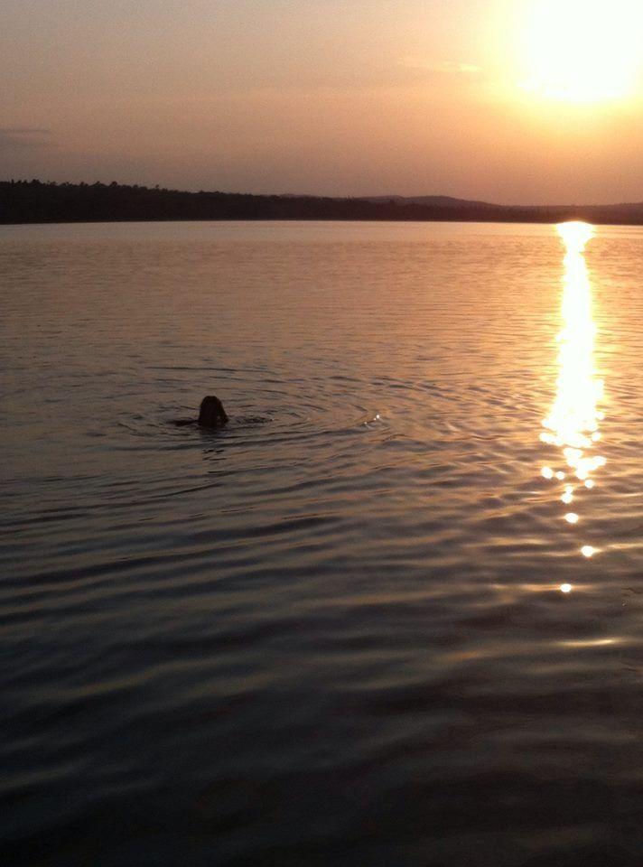 Sun set swim on my trip home