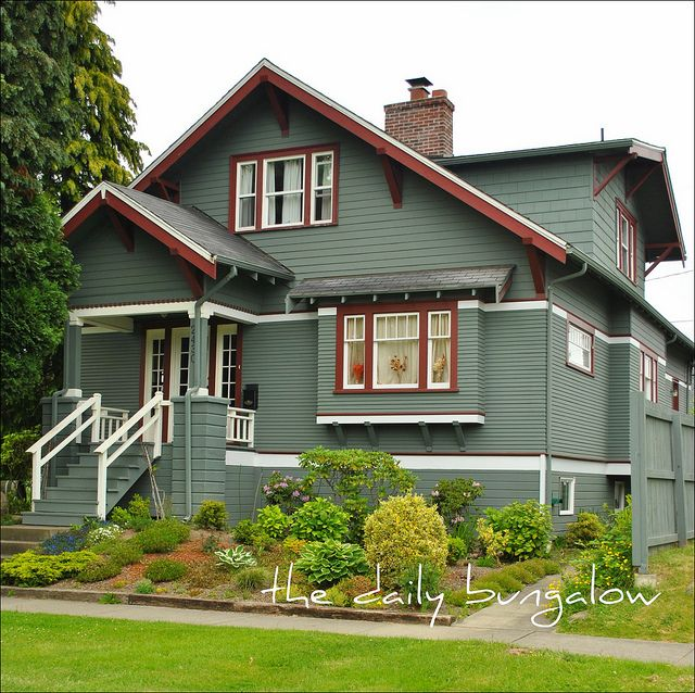 Best Exterior Color Schemes Images On Pinterest Bungalows - Craftsman style exterior house color combinations for homes