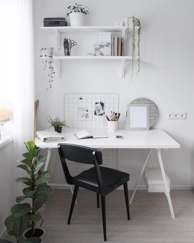 White workspace.   #workspace#workspacegoals#interior4all#scandihome#cozyhome#homedecoration#homeoffice#artprint#art#mood#whiteinterior#myhome#myroom#creativity#fantasy#blog#instahome#inspro#ikea#скандинавскийстиль#белыестены#белыйстол#рабочееместо#икеа