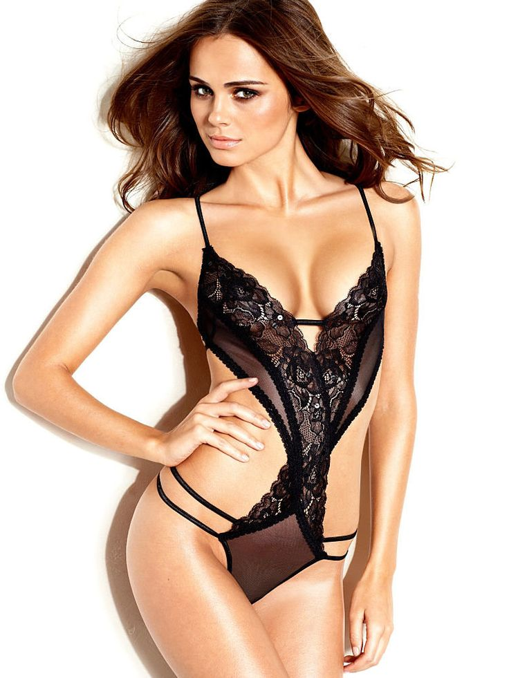 Strappy Lace Teddy from Frederick's Of