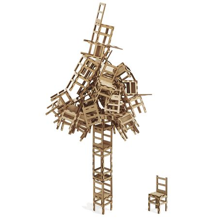 Reach new heights with the chair stacking game from the @Museum of Modern Art collection! Guaranteed for hours of fun.