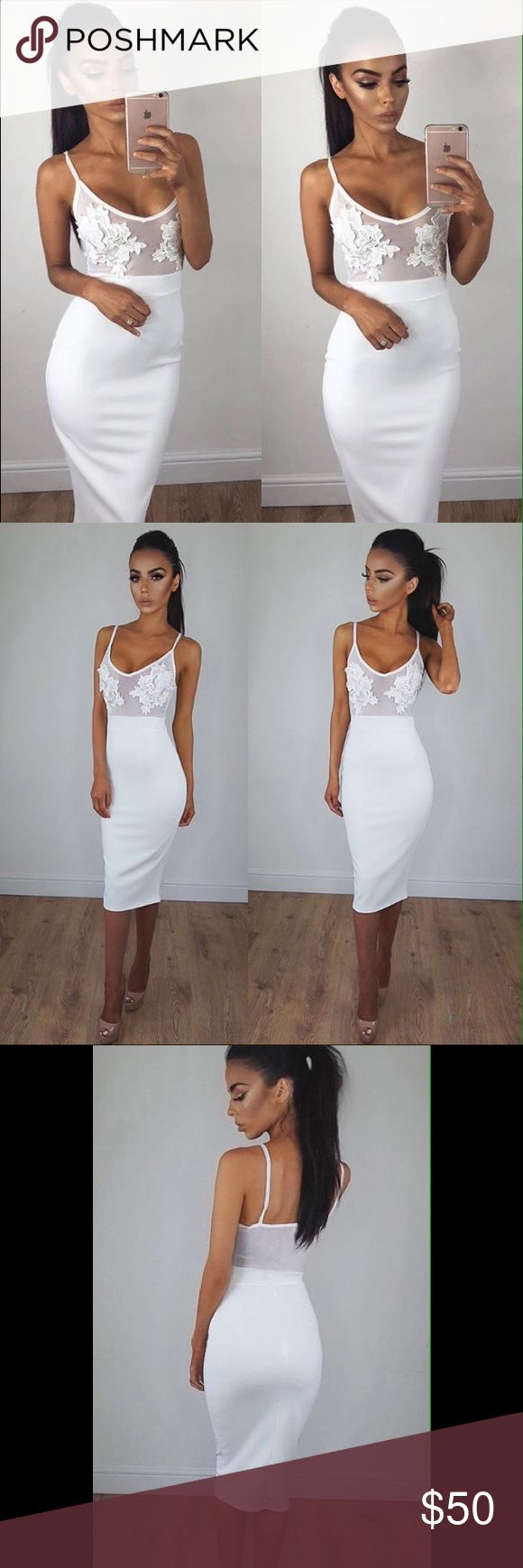 Lace And Mesh Dress