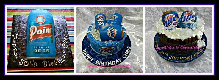 Miller Lite birthday cakes