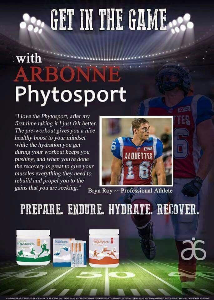 Arbonne PhytoSport. Get In The Game. http://luzmariaheredia.arbonne.com