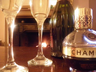 Chambord and Prosecco fireside for two | My Food | Pinterest