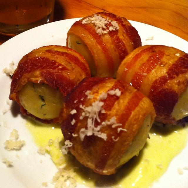 The Gorbals (LA) - Bacon-wrapped Matzo balls!