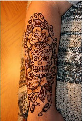 Minus the skull... I do love the line work and that the flowers are a different color!