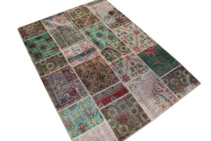 Patchwork vloerkleed, diverse kleuren 240cm x 170cm