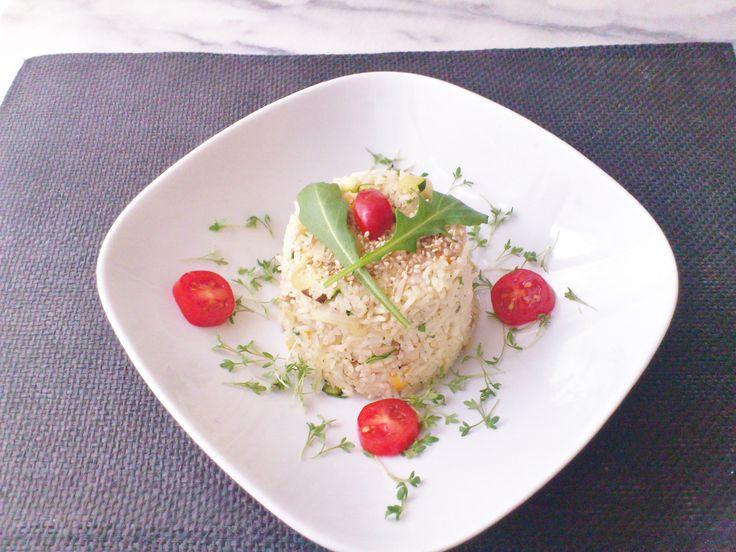 Homemade one-pot vegetable mushroom smoked tofu basmati rice! #vegan #organic #glutenfree #healthyeating #nutrition #food