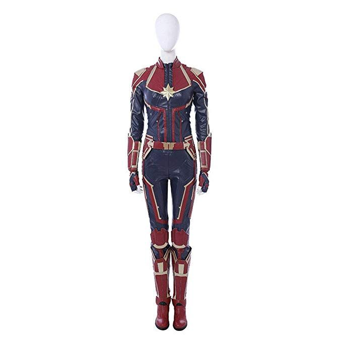 Amazon Com Captain Marvel Carol Danvers Cosplay Costume Leather Full Suit Custom Made Women Cloth Marvel Costumes Superhero Halloween Costumes Marvel Cosplay Captain marvel cosplay outfit avengers 4 endgame costume red suit with bootstop rated seller. pinterest