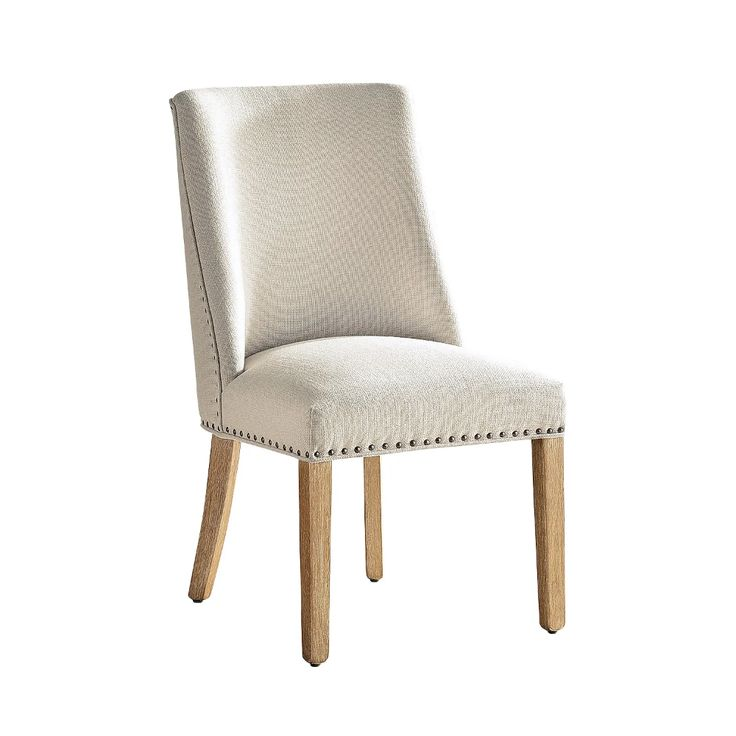 Corinne Linen Dining Chair with Natural Stonewash …