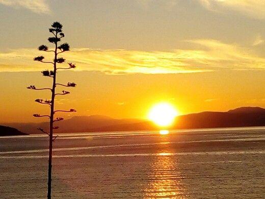 Sunset at Salamina island