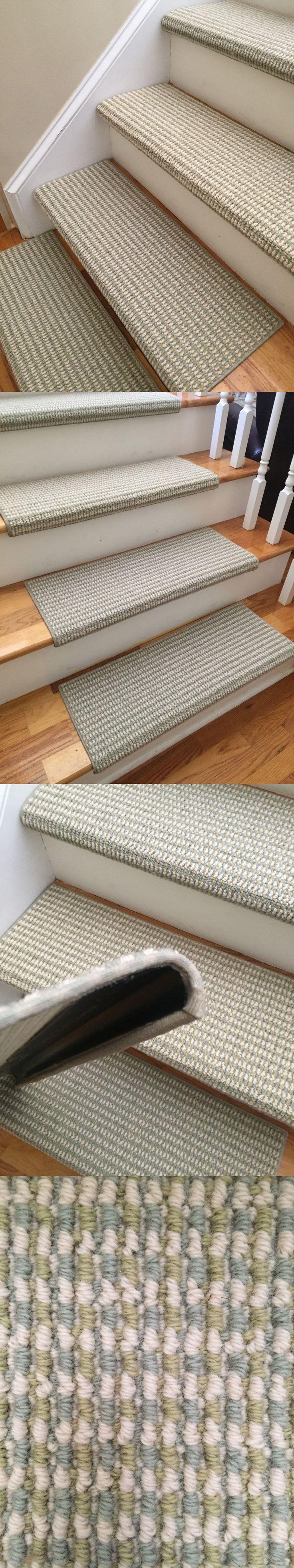 Stair Treads 175517: Sunburst Melody 100% New Zealand Wool True Bullnose™ Carpet Stair Tread Jmish -> BUY IT NOW ONLY: $150 on eBay!