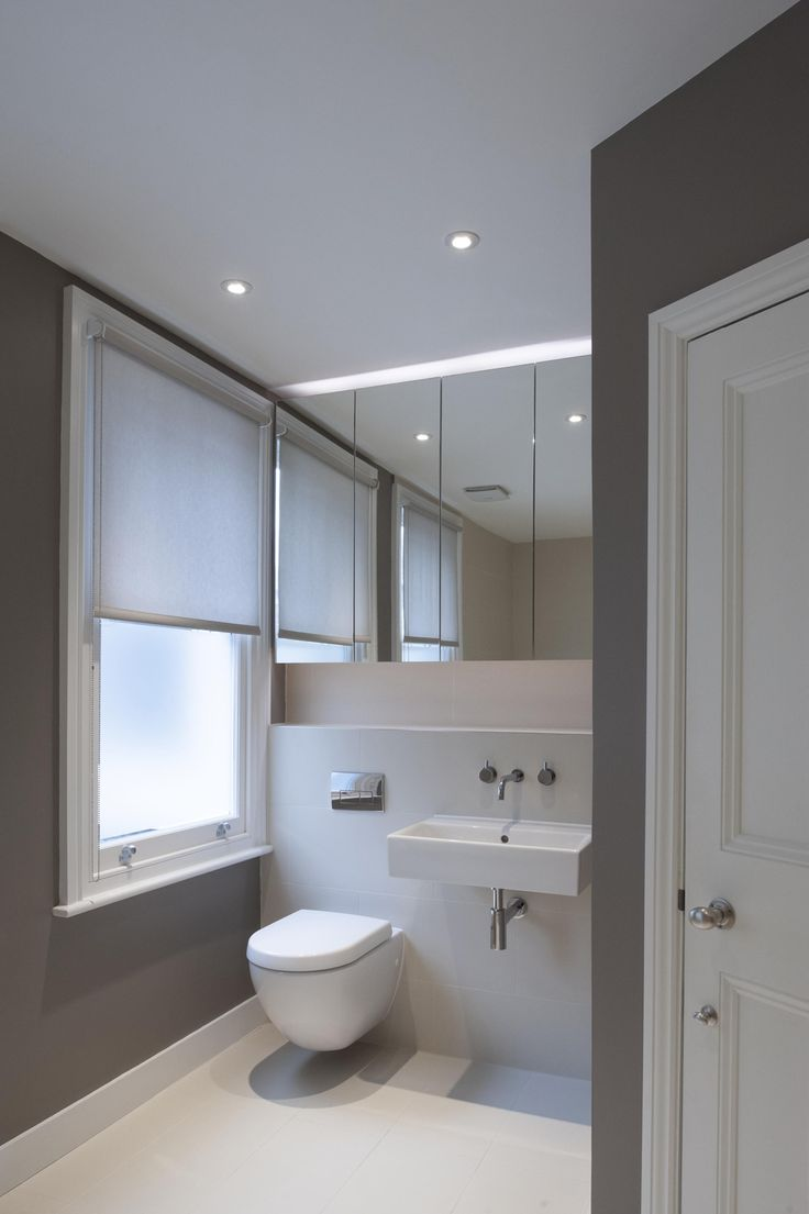 recessed mirror cabinets - shelf above concealed cistern - similar layout