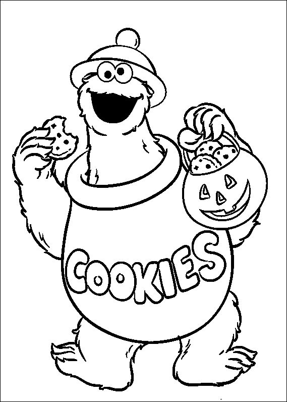 cookie monster coloring pages printable free - 17 best images about sesame street coloring pages on