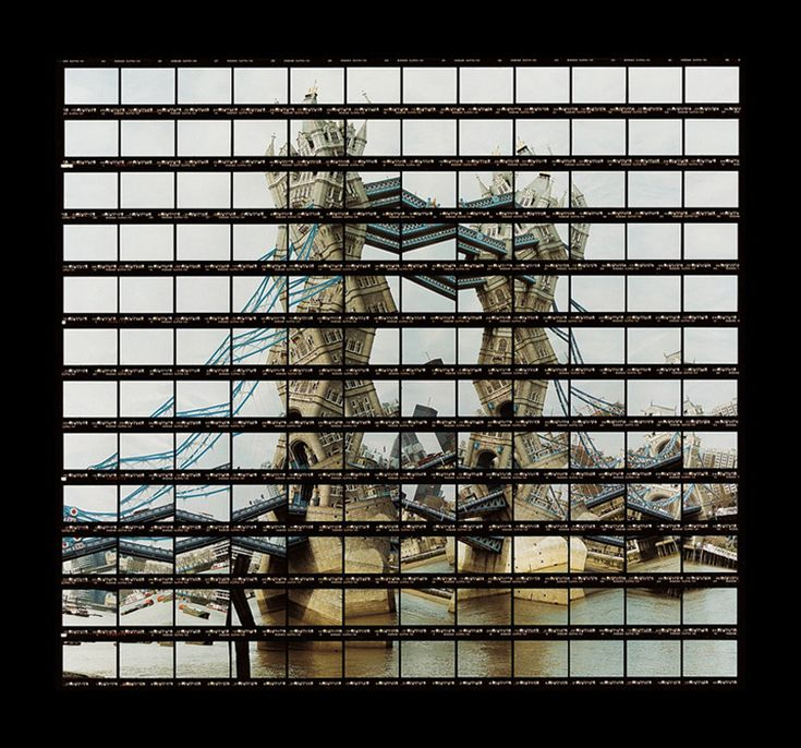 Tower Bridge, London ~ artist Thomas Kellner tests and verifies the powerfully iconic nature of renowned landmarks through distinctive mosaic-like compositions. Through the medium of photography, Kellner creates a kaleidoscopic visual play on renowned buildings & structures by taking a series of pictures that, once assembled, recreates the original scene in a playfully distorted manner, producing a de-constructed image that tricks the collective human processes of visual perception.