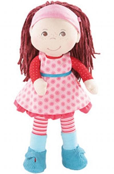 Muñeca Clara de Haba. Estas amiguitas tienen una cara tan simpática, y una ropa con colores brillantes que enseguida las niñas la quieren adoptar!