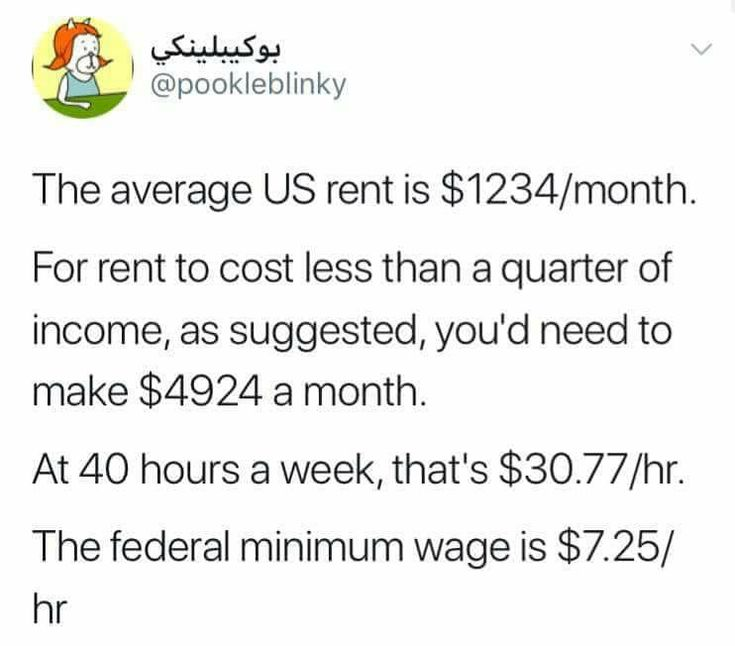 Even if you can pay that rent, what happens to utilities, groceries, health care?? How are they going to survive?