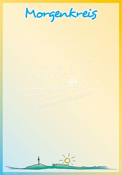 """Kindergarten Portfolio Vorlagen """"Morgenkreis"""""""