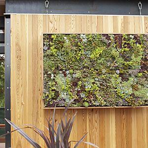 Vertical garden art