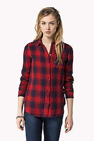 zareen karo hemd ist der Höhepunkt der Saison: aus der neuesten Tommy Hilfiger Hemden Kollektion für Damen. Kostenlose Lieferung & Retouren.