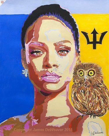 """#Rihanna +Rihanna #pastel #art #portrait Titled """"Rihanna & The Owl"""" 2015 #artwork #RihannaRDNavy #illuminati #Barbados $59.95 #limitededition #prints"""