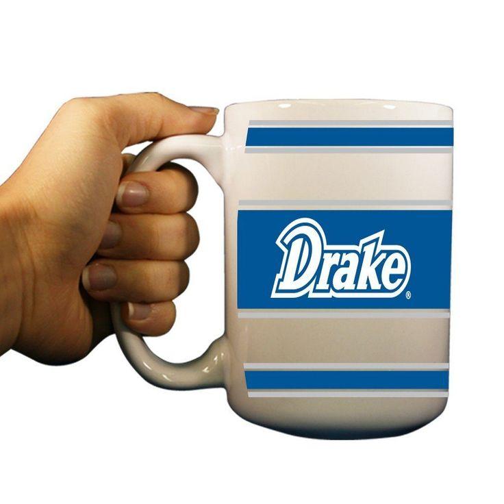 Drake University Bulldogs 15oz Coffee Mug - Stripes Background