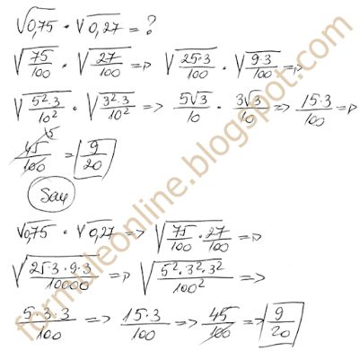 multiplying radicals examples -  example no. 10 with solution