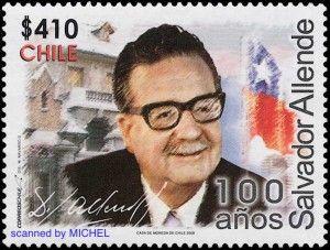 Nach dem Ende der Militärdiktatur widerfuhr Salvador Allende in Chile Gerechtigkeit. 2008 ehrte ihn die Post anlässlich seines 100. Geburtst...