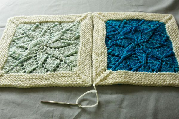 """The border helps these stunning knitted squares hold their shape. """"Wonderful step-by-step tutorial by tin can knits for the Vivid Blanket"""""""